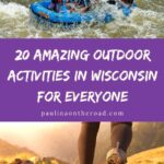 Wisconsin is an underrated gem for outdoorsy travel. With all the amazing outdoor activities in Wisconsin, you will never run out of things to do! This guide includes tips for the best places to go hiking, skiing, ziplining, and more. Whether you visit Wisconsin Dells, Northern Wisconsin, or Door County, there are great outdoor attractions in Wisconsin for you! #Wisconsin #WisconsinOutdoors #GetOutdoors #GoExplore #WisconsinDells #Hiking #ApostleIslands #IceAgeTrail #ManitouFalls #VisitWisconsin