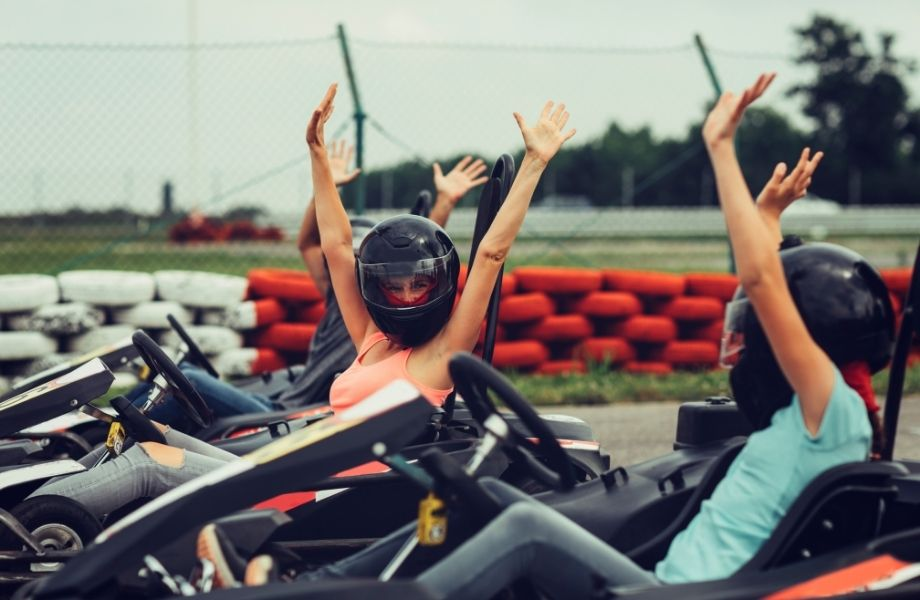 The best outdoor activities in Wisconsin, girls having fun will go karting