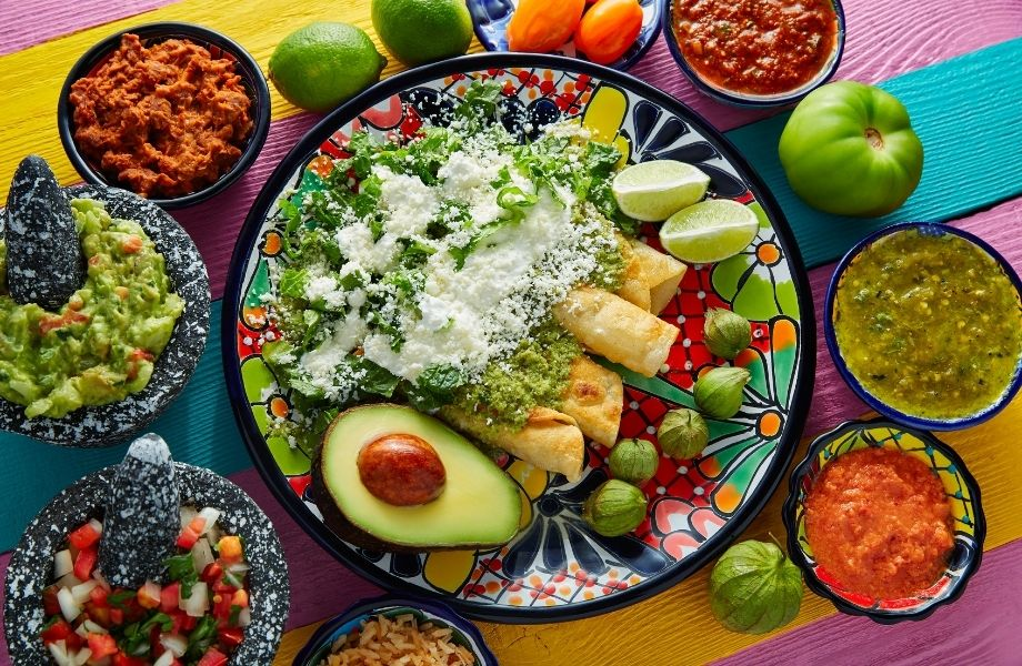 why travel central wisconsin, spread of delicious mexican food