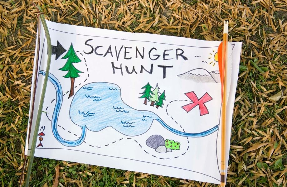unique things to do in wisconsin, Scavenger Hunt Sign made by a kid