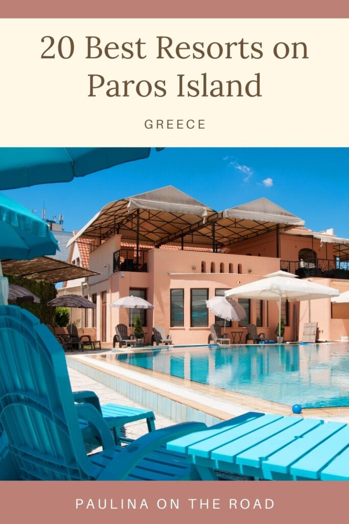 Wondering where to stay in Paros, Greece on your next vacation? Luckily there are plenty of amazing hotels and resorts in Paros to suit every budget. Whether you want to stay in the popular neighborhoods of Parikia and Noussa, or somewhere a little more low-key, this guide to the best resorts in Paros, Greece will help you find the perfect accommodation for you! #Paros #Greece #ParosIsland #GreekIsles #ParosGreece #ParosResorts #VisitParos #PoseidonOfParos #AkrotiriHotel #ParosAgnantiHotel