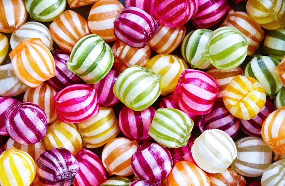 assortment of hard candies; save your candy shop at Northwoods one of the best Wisconsin escape rooms