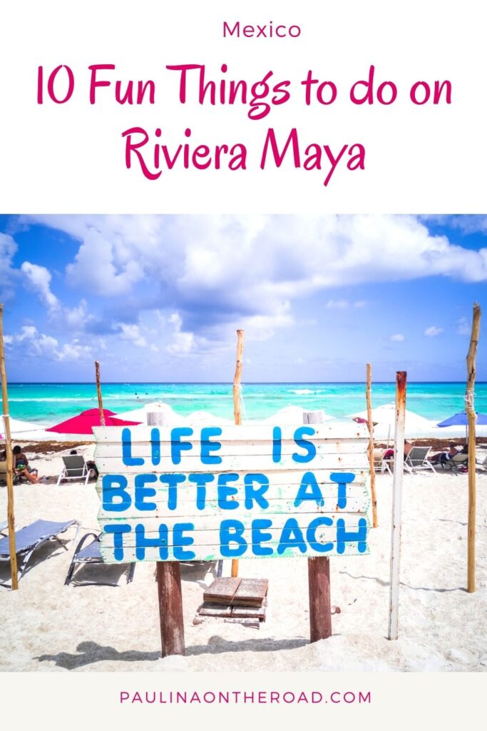 Wondering about cool things to do on Riviera Maya, Mexico? This is the ultimate list with attractions in Riviera Maya, Mexico incl. food, hotels, and beaches. Find out where to eat in Riviera Maya and where to stay in Riviera Maya, Mexico. A guide to the best beaches in Riviera Maya and cenotes in Riviera Maya. Find also detailed instructions on where to find the best cenotes in Riviera Maya. #rivieramaya #mexico