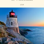 Planning a trip to Wisconsin and looking for something unique to add to your itinerary? The lighthouses of Wisconsin are beautiful and full of history and there are over 50 of them in the state! You can find amazing some of the best Wisconsin lighthouses on Lake Michigan and throughout Door County. #Wisconsin #Lighhouses #LighthousesOfWisconsin #WisconsinLighthouses #EagleBluffLighthouse #LakeMichigan #LakeMichiganLighthouses #WisconsinPointLighthouse #DoorCountyLighthouses #CanaIslandLighthouse