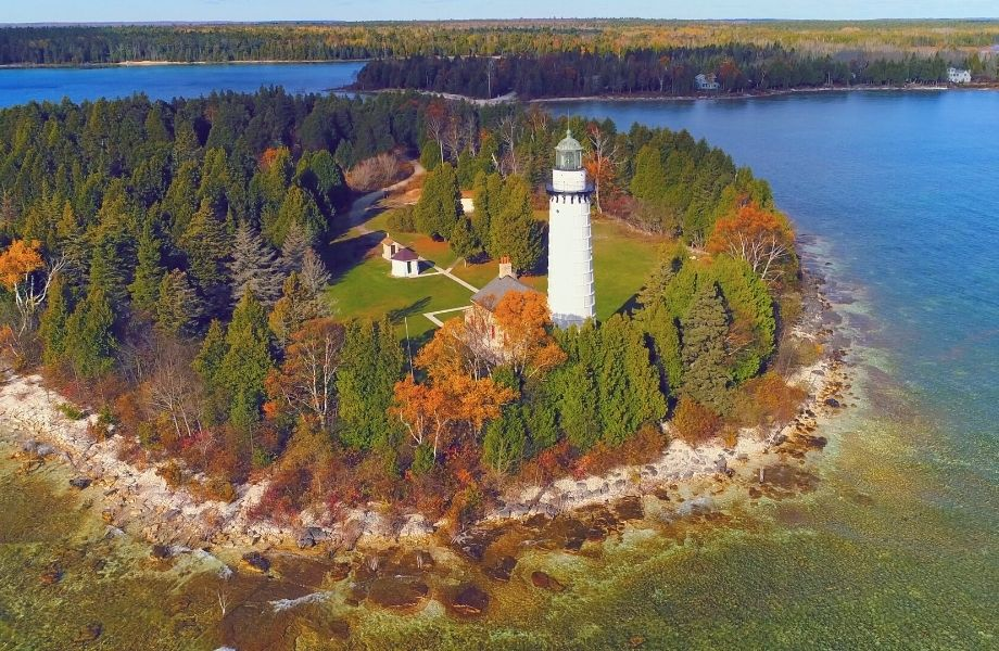 best island lighthouse in wisconsin, Cana Island Light Station