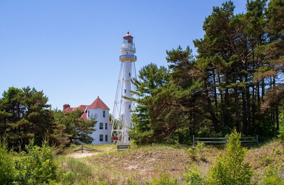 Lighthouses to visit on Lake Michigan, Rawley Point Lighthouse