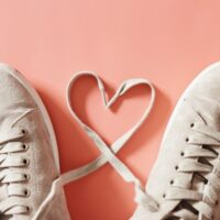 Best Sustainable Shoe Brands, shoes with laces that form a heart