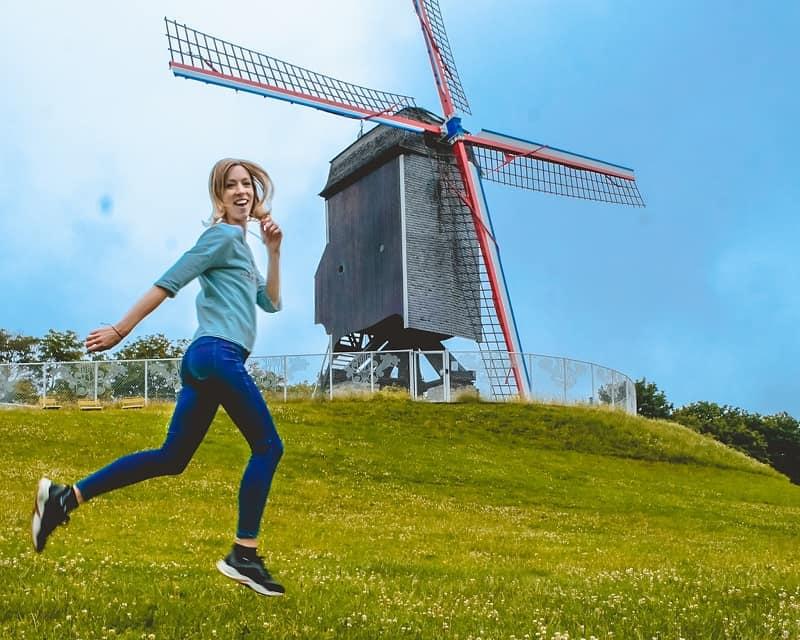 windmills bruges travel blogger
