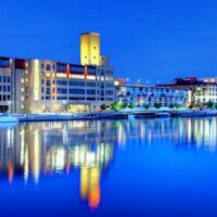 amazing hotels and resorts in green bay wisconsin, Green Bay Skyline at night