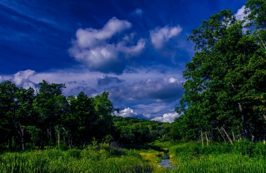 best hiking southern wisconsin, view of Scuppernong Creek