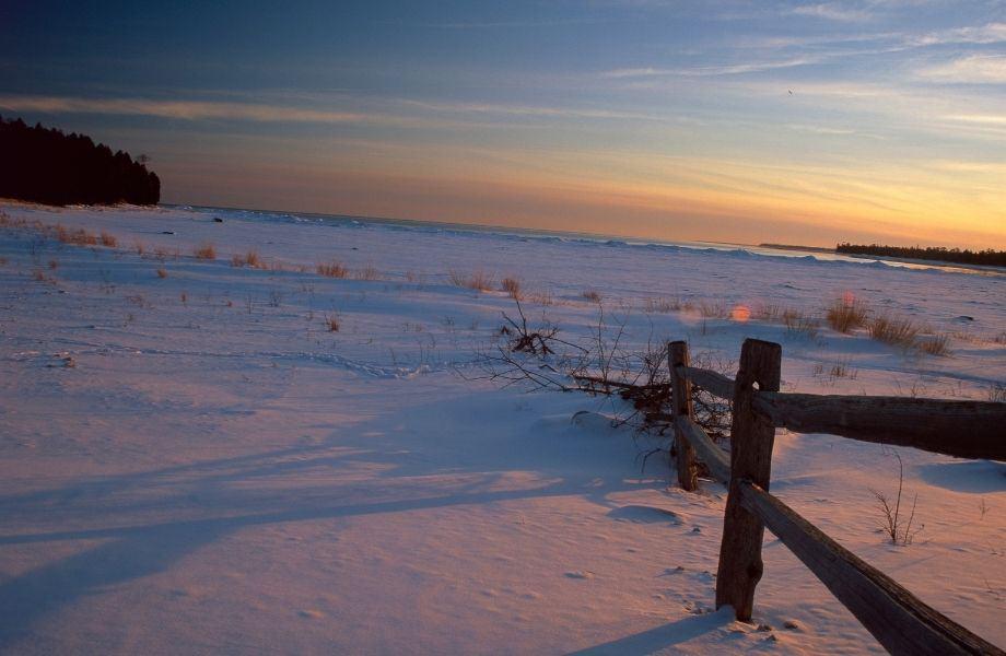 Door County winter getaway, Bailey's Harbor in Winter