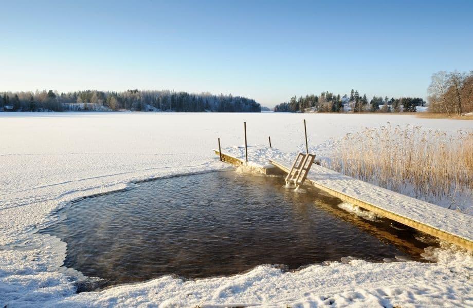 best winter activities Door County offers, pool for ice swimming