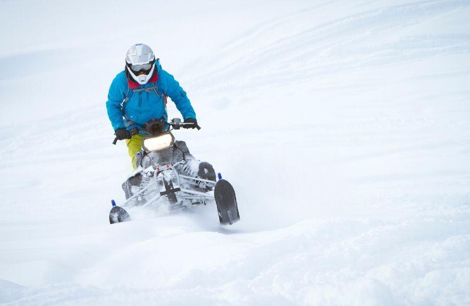 sheboygan county snowmobile trails, person riding a snowmobile