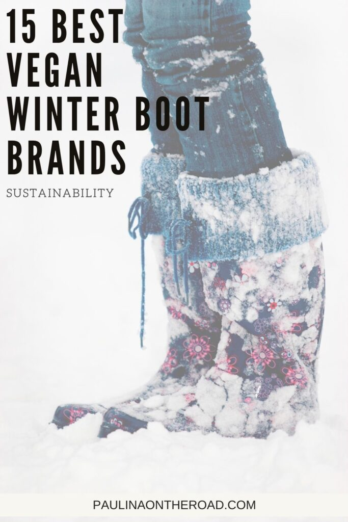 Finding the perfect vegan winter boots can be a challenge. Luckily more and more brands are providing high-quality and stylish vegan alternatives. This guide provides information on the best vegan winter boot brands, including some that are 100% vegan! Whether you want vegan leather shoes, vegan duck boots, or something stylish but warm, these brands will have the vegan winter boots for you! #Vegan #Boots #Winter #WinterBoots #VeganShoes #GoVegan #VeganBrands #ShopVegan #AnimalFree #CrueltyFree